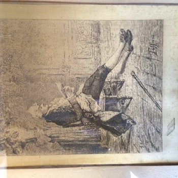 Antique drawings on silk? - Victorian Era