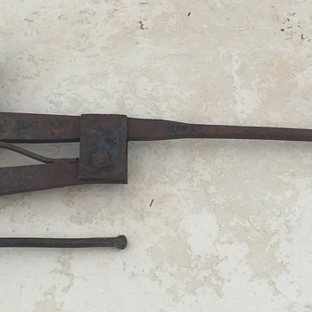 Large Antique Clamping/Vice Implement
