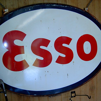Esso steel oval - Signs