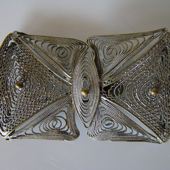 Art Nouveau filigree buckle 1