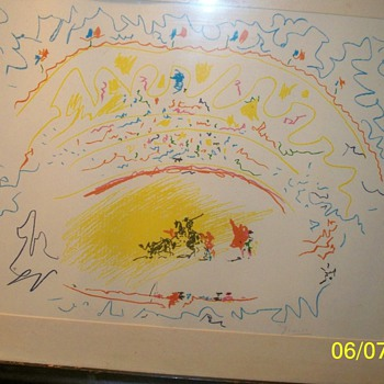 Lithograph pencil signed Piccaso - Visual Art