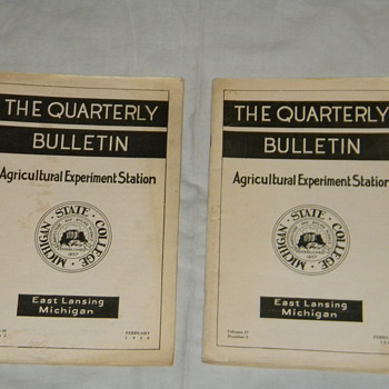 "1935/1938 Michigan State College ""The Quarterly Bulletin"""