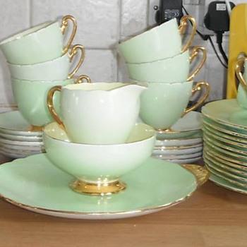 Unmarked tea set.