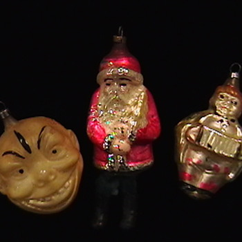 Early 1900's Christmas Ornaments - Christmas