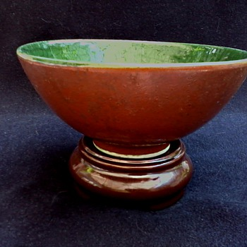 Modern Chinese Red and Green Bowl /Circa 20th Century - Asian