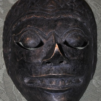 wooden mask - Folk Art