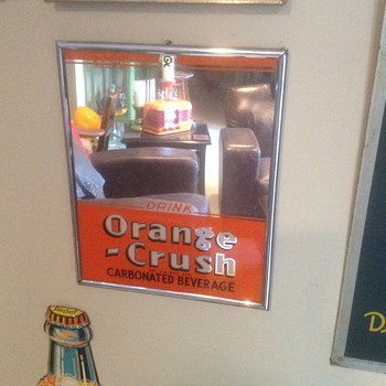 1930s Orange Crush advertising mirror - Advertising