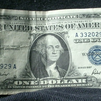 1957 A Series Silver Certificate  - US Paper Money