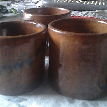teague pottery cups