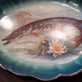 FISH ON AN OVAL PLATE - China and Dinnerware