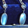Antique Ceylon Moonstone Pendant Earring 835 Silver Germany 1.75&quot;