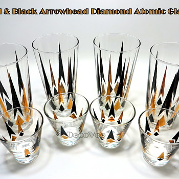 Diamond Arrowhead Atomic Drinking Glasses