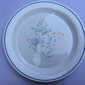 Antique looking Milk glass plate - Glassware