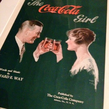 1927 The Coca Cola Girl Sheet Music