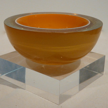 MURANO GEODE BOWL TRI-COLOUR - Art Glass