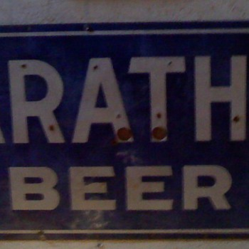 marthon wi beer sign