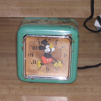 1933 Mickey Mouse &quot;Electric&quot; Clock - Clocks