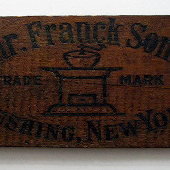 Heinrich Franck &amp; Sons Wooden Coffee Crate Sign - Advertising