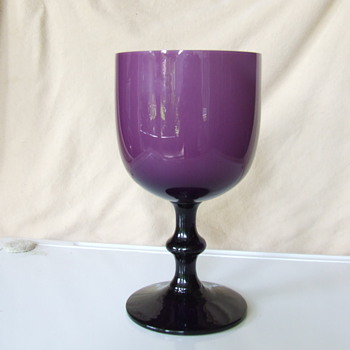 amethyst milk glass  - Glassware