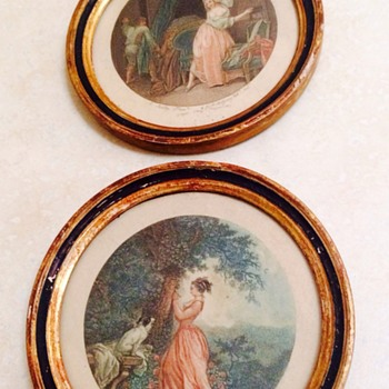 Antique French Etchings - Visual Art