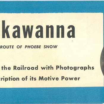 Lackawanna Railroad Motive Power Brochure