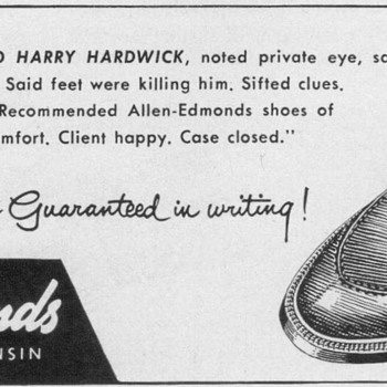 1954 - Allen Edmonds Shoes Advertisement