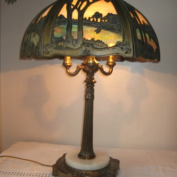 slag glass lamp - Lamps