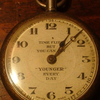 King George V Jubilee 1935 Time Flies Watch - Pocket Watches