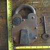 Antique Pullman  Rail Road lock HUGE