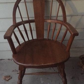 Milwaukee Chair Co. Antique Windsor, Barrel Back Chair(s)