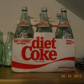 6-pack of 32 oz. Diet Coke in cardboard case - Bottles