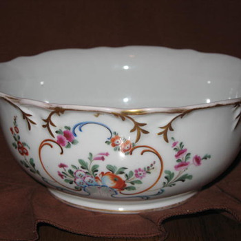Russian Gilded Floral Bowl by Aleksei Popov - Circa 1844