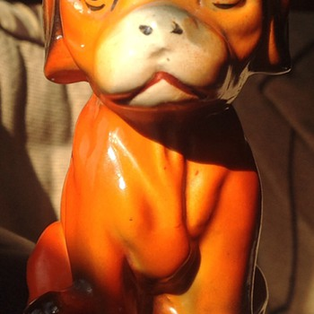 Dog figurine.