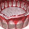Cranberry Glass Ashtray