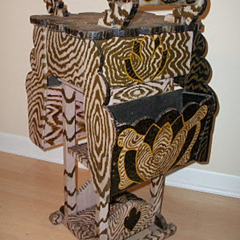 African-American made Sewing Stand? - Folk Art