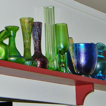 "Just a few of my Bohemian ""Babies"".....Sitting on a Shelf :0"