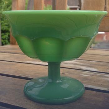 Jadite glass compote/bon bon dish - Glassware