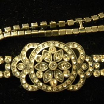 Vintage '30's Monet Double Strand Rhinestone Bracelet