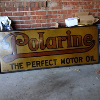 POLARINE OIL COMPANY SIGN - Advertising