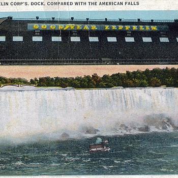 Goodyear Zeppelin Hangar Postcard