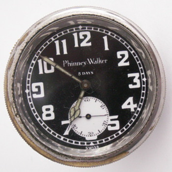 Phinney-Walker 8 day Car Clock - Clocks