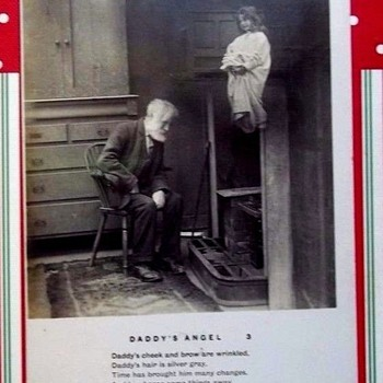 1906 GHOST ANGEL (staged photo) POSTCARD. ODD