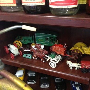 Cast Iron Tractor Shelf - Toys