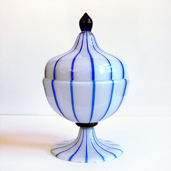 "Tango glass, Loetz , with decoration by Michael Powolny ""from hubbie's collection"""