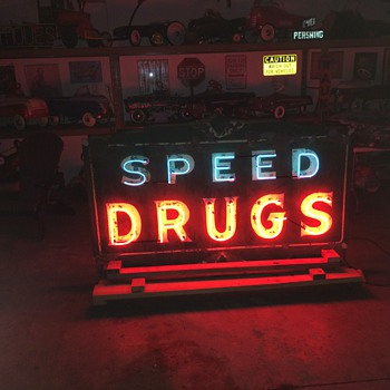Late 1930's double sided neon sign lives again