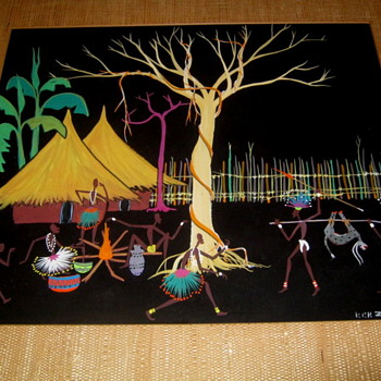 Painting by Listed African Artist Jacques Zigoma-Congo 1936-1987