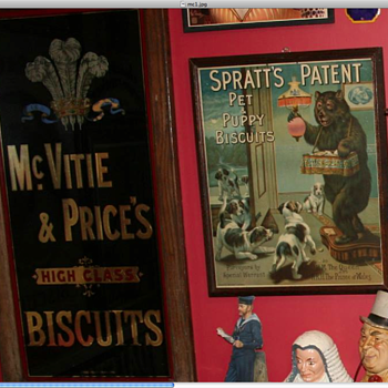 Mc Vities advertising sign. Rare as it has the Prince of wales crest on it.  - Signs
