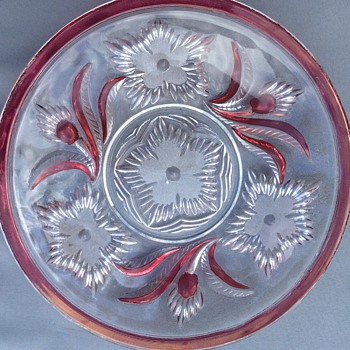 Cut glass plates