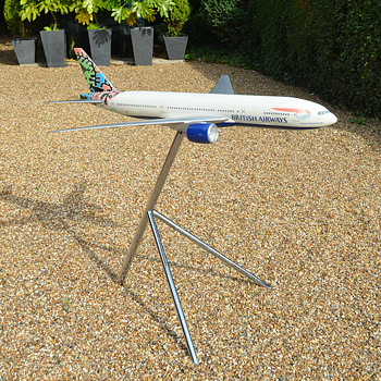 1/50 Scale British Airways Boeing 777-200 Model by Space Models Ethnic Tails Animals and Trees Livery - Advertising