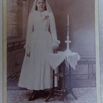 Early Photograph of Bride to Be